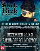 Billy Lyve Opens for Slick Rick Dec. 3rd at Baltimore SoundStage