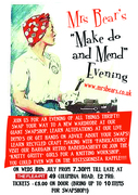 Mrs Bear's Make do and Mend evening