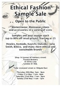 Ethical Fashion Sample Sale for 4 days only