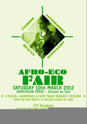 AFRO ECO FAIR II, SATURDAY 1Oth MARCH 2012