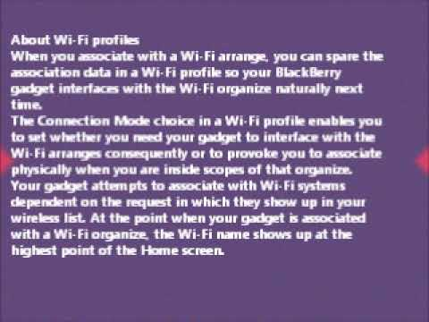 Connect to a Wi Fi network using the PIN method on Blackberry smartphone