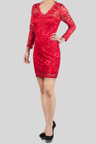 Floral Valentine special Dress in Red
