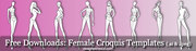 Free Downloads: Female Croquis Templates