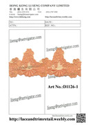Embroidered Net Lace Art No.:D1126-1 Orange