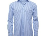Blue and White Pinstriped Shirt Wholesaler