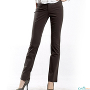 Wholesale Brown Slim Fit Pants Supplier for Women