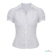 Wholesale Puffed Sleeved Women Formal Shirt