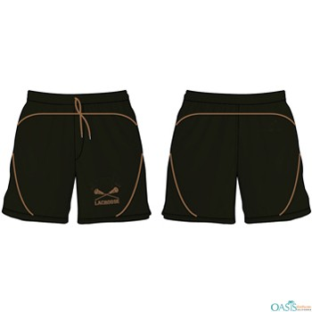 Classic Black Custom Fit Lacrosse Shorts