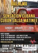 """Sensacion Cubana """"Cuban salsa matinee"""" – January 11, 2015"""