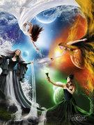 _The_Elemental_Goddesses__by_moroka323