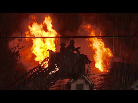 Rutherford NJ Fire Dept Heavy Fire Through Roof