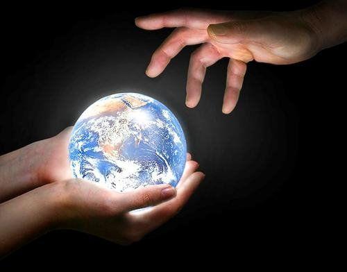 Mãos e  Mundo