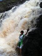 Banho na cachoeira da moça loura, depois de um bom pedal.