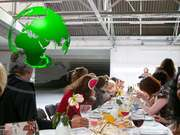 EAT with ART a feast for 200 on Mothering Sunday