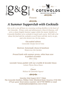 A Cocktail Matched Summer Supper