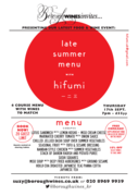 Japanese Supper Club @ Borough Wines Kensal Rise