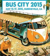 Bus City 2015 - the Seventh Annual VW Bus Gathering in the Redwoods, Guerneville, CA
