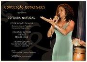 """Conceição Rodrigues apresenta o show """"Estrada Natural"""" no teatro Commune em São Paulo."""