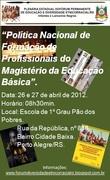 Plenária Estadual do Fórum de Educação Etnicorracial do RS