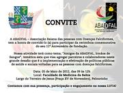 11º aniversário daABADFAL - Associação Baiana das Pessoas com Doenças Falciformes