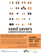 Seed Savers Garden Forum Series