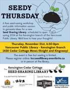 *Seedy Thursday: Workshop & Info Session