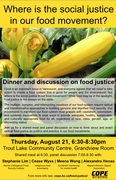 Where is the social justice in our food movement? Dinner & discussion on food justice