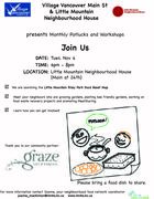 *Food Asset Map Launch & Monthly Potluck (Village Vancouver Main St.)