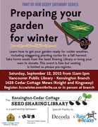*Seedy Saturday: Preparing your garden for winter