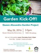 Queen Alexandra Garden Kickoff