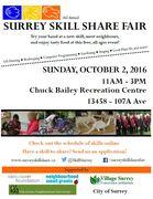 *Surrey Skill Share Fair