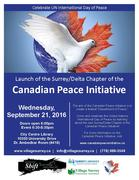 Launch of Surrey/Delta Chapter of Canadian Peace Initiative