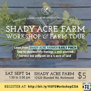 Shady Acre Farm CSA Management Workshop & Farm Tour