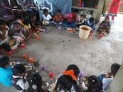 feeding the Children in India.