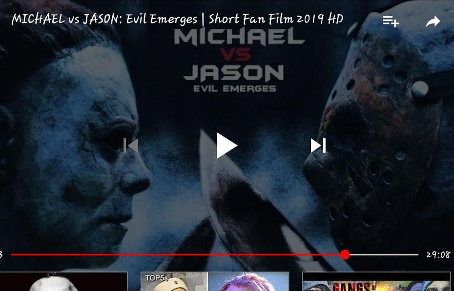 FOR ALL YOU HORROR FANS JASON VS MICHAEL MYERS  THEY BEEFING REAL HARD  https://youtu.be/rXjOA6B9sYA
