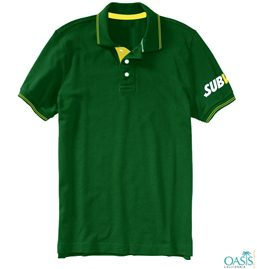 Subway Evergreen Collard Logo T Shirt