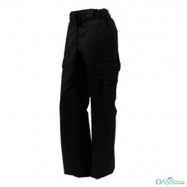 Casual Black Security Track Pants