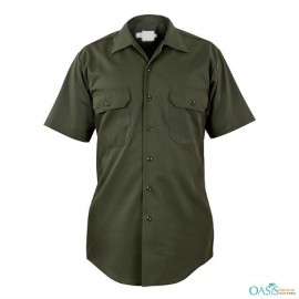 Army Green Women Security Shirts