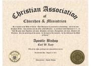 Christian Title Certificate