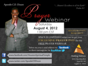 prayer webinar social media flyer