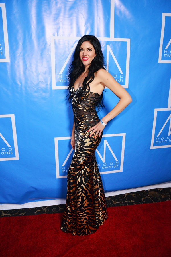 Nominee Rock Artist Kristen Faulconer at The Hollywood Music and Media Awards 2012