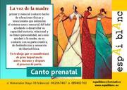 Canto Prenatal en Valencia HASTA EL 31 DE JULIO 2015