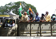 stock-photo-calcutta-india-june-a-group-of-hindu-people-riding-the-then-political-meeting-june-17630545