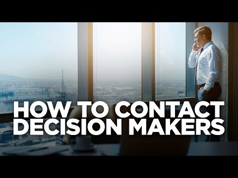 How to Contact Decision Makers: Young Hustlers