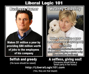 Liberal Logic 101 Business Owner v Wealthy Celebrity