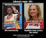 Liberal Logic 101 Not newsworthy v Headline news