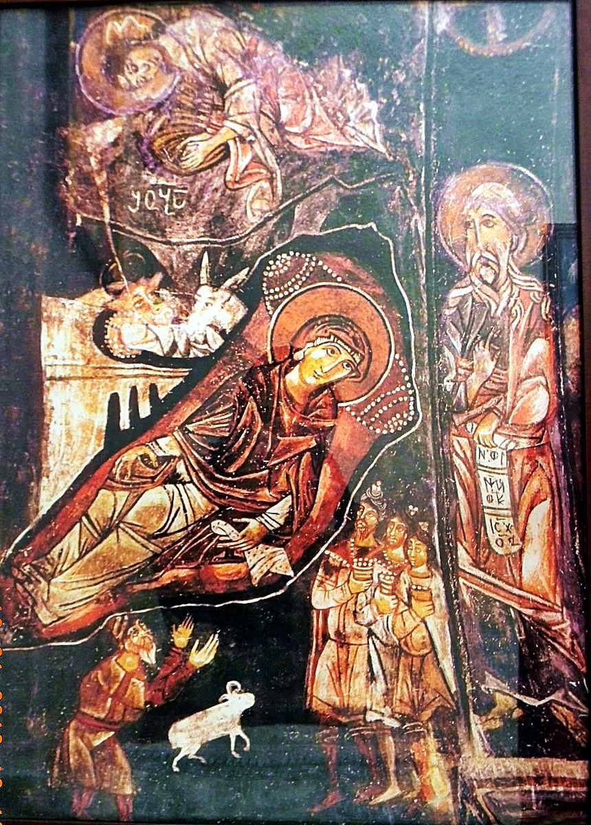 შობის ფრესკა, შობის ქართული ფრესკა, იესო ქრისტეს შობა, shoba, freska, qartuli freska, xati, ხატი, ხატები
