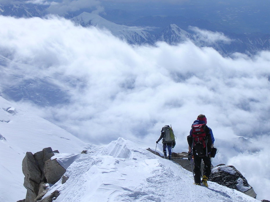 Descending the West Buttress on Denali
