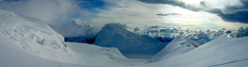 Mt Foraker and Kahiltna Dome from Denali