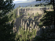 Basalt Columns at Tower in Yellowstone
